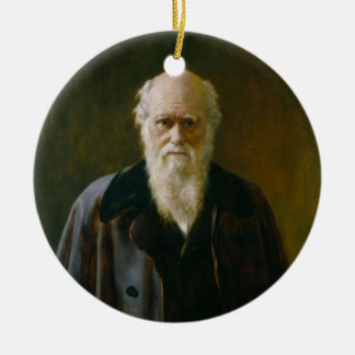 Old Charles Darwin Atheist A  Ornament