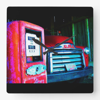 Old Chevy Farm Truck Clock
