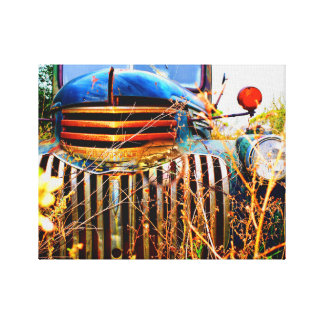 old chevy truck on canvas