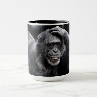 Old Chimpanzee custom name mugs