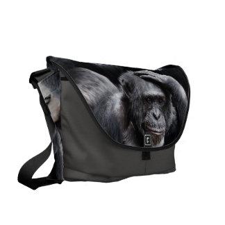 Old Chimpanzee messenger bag