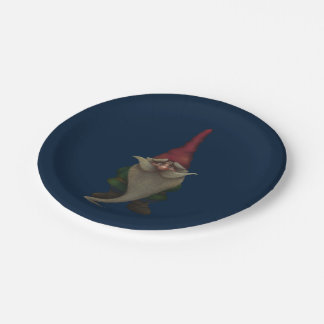 Old Christmas Gnome 7 Inch Paper Plate