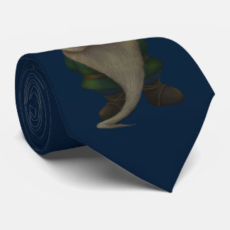 Old Christmas Gnome Blue Tie
