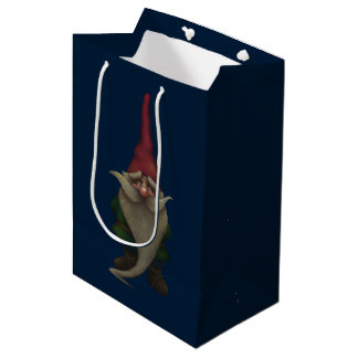 Old Christmas Gnome Medium Gift Bag