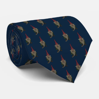 Old Christmas Gnome Pattern Tie