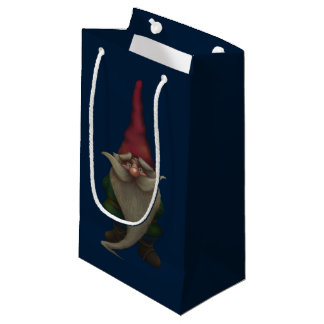 Old Christmas Gnome Small Gift Bag