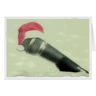 Old christmas microphone card
