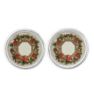 Old Christmas Wreath Cufflinks