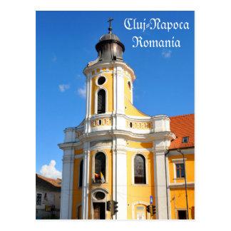 Old church in Cluj Napoca, Romania Postcard