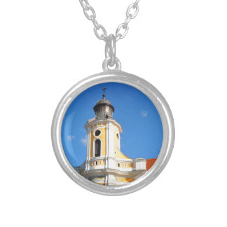 Old church in Cluj Napoca, Romania Silver Plated Necklace