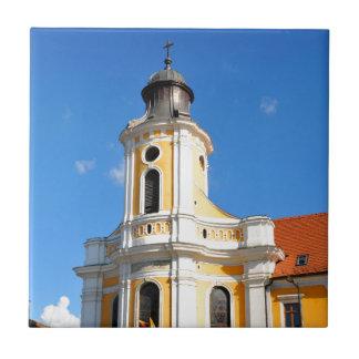 Old church in Cluj Napoca, Romania Small Square Tile