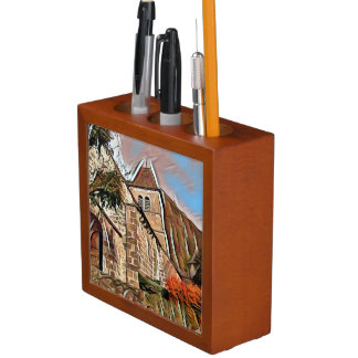 Old church in France / Auvergne / cantal Desk Organiser