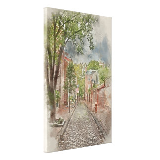 Old City Philadelphia Alley Canvas Print