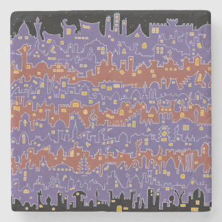 Old City – Sana'a - Marble Stone Coaster