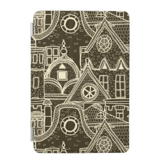 Old City sketchy pattern on dark background iPad Mini Cover