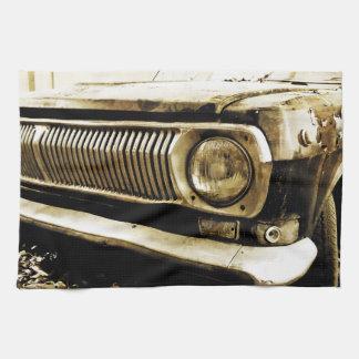 Old Classic Car Headlight #2 Tea Towel