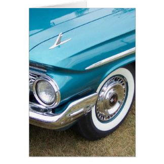 old classic car impala card
