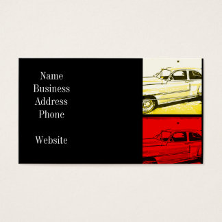 Old Classic Car Watercolor Pop Art Print Business Card