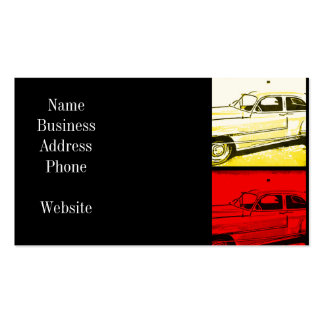 Old Classic Car Watercolor Pop Art Print Pack Of Standard Business Cards