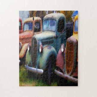 Old classic trucks puzzle