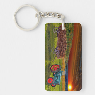 Old classical Trecker Double-Sided Rectangular Acrylic Key Ring