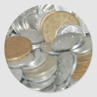 Old Coins Classic Round Sticker