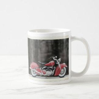 Old color motorcycle photo coffee mug