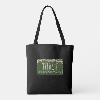 Old Colorado License Plate Toasted Autos Bag