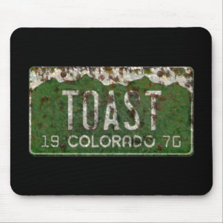 Old Colorado License Plate  Toasted Autos Mousepad