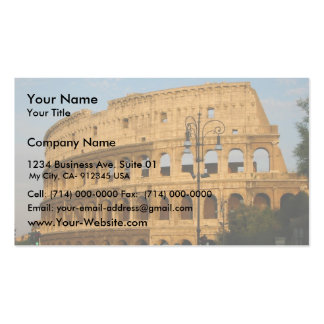 Old Colosseo Of The Rome Business Card Template