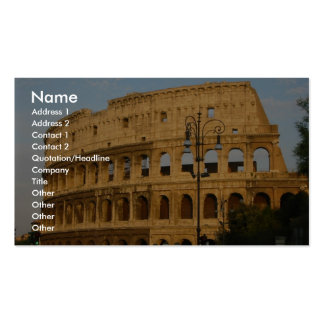 Old Colosseo Of The Rome Business Card