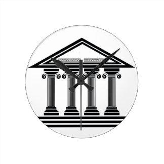 old columns round clock