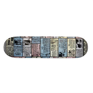 Old comic ad deck skateboard deck