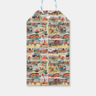 Old comic strip gift tags