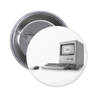 Old Computer 6 Cm Round Badge