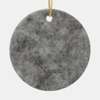 Old Concrete Ceramic Ornament