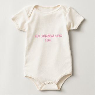 Old Congress Days 2009 Baby Bodysuit