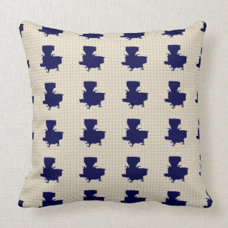 Old-Cook-Stove-Navy-Cream-Pillow-Accents Cushion