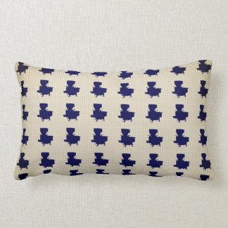 Old-Cook-Stove-Navy-Cream-Pillow-Lumbar Lumbar Cushion