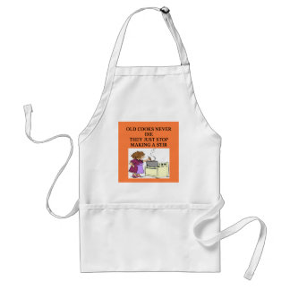 old cooks never die standard apron