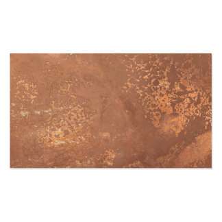 old copper surface pack of standard business cards