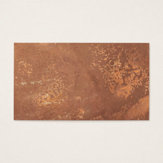 old copper surface business card