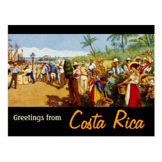 Old Costa Rican Painting Postcard