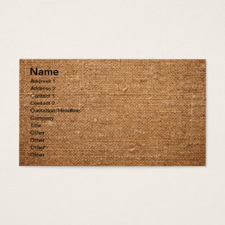 Old Cotton Canvas Texture For Background Business Card