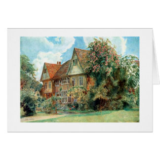 Old Country Cottage By Herbert Alexander Greeting Card
