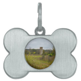 Old Country Silo Landscape Pet ID Tag
