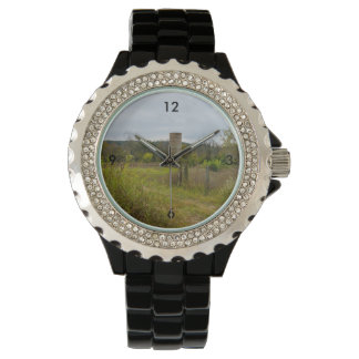 Old Country Silo Landscape Wrist Watch