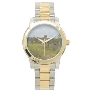 Old Country Silo Landscape Wristwatches