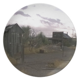 Old Country Western Ghost Town Plate