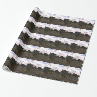 Old Country Western Ghost Town Wrapping Paper